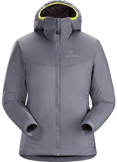 Warm insulated Coreloft™ jacket with an insulated hood; Ideal for use as a super-warm mid layer in cold conditions, or as a standalone piece in warmer conditions. Atom Series: Synthetic insulated mid layers | AR: All Round.