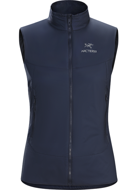 Superlight Coreloft™ insulated vest for mid to high output activities. Atom Series: Synthetic insulated mid layers | SL: Superlight.