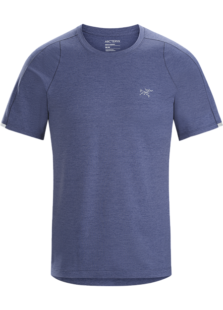 Versatile, lightweight, gridded technical tee for high output activities in hot weather.
