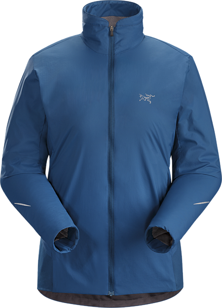 Performance thermal regulation in a light, highly breathable wind and weather resistant Octa® Loft insulated jacket designed for high output activities in cold conditions.