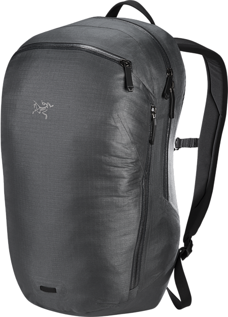 Slim profile urban backpack with weather protection and smart organization.