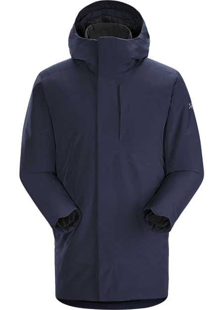 Streamlined warmth with urban style in wind and weatherproof Coreloft™ insulated GORE-TEX coat.