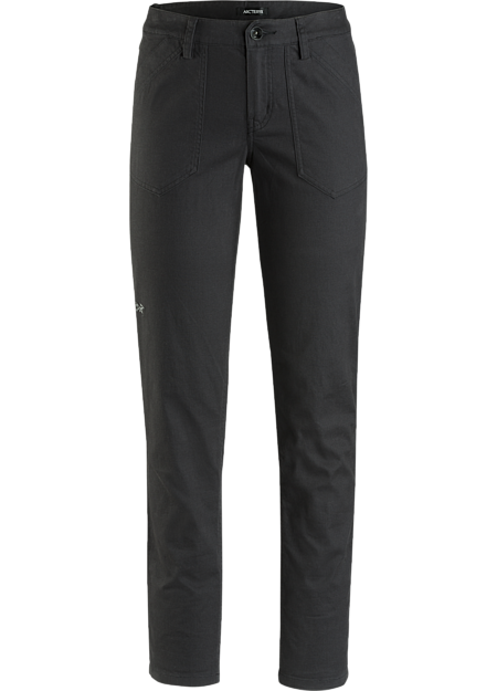 Trim fitting women's cotton canvas pant with stretch and casual style. Revised fit for the Fall 2018 season.