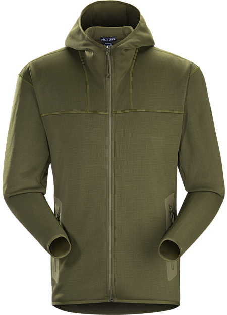 Warm technical mid layer with full zip closure, functional for everyday use.
