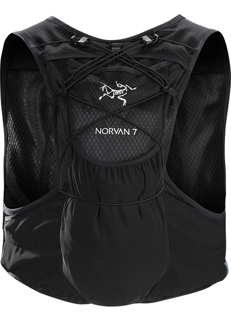 Exceptionally comfortable vest carries gear and hydration for long trail runs.