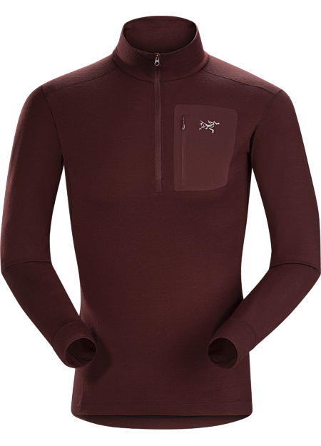 Midweight Merino base layer delivering wool performance with enhanced durability.