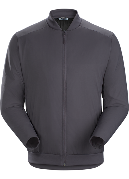 Lightweight, casual synthetically insulated bomber-style jacket for warmth around town.