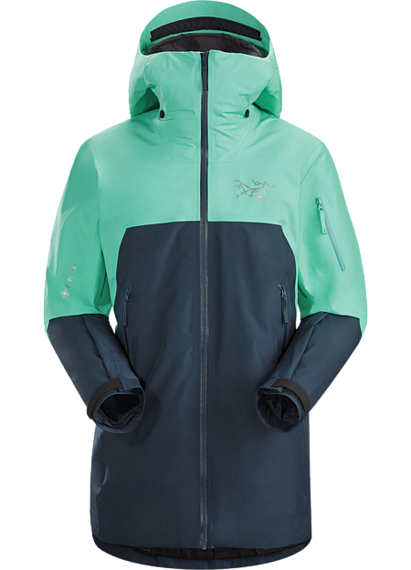 Lightly insulated GORE-TEX jacket for warmth and weather protection on backcountry tours. | IS: Insulated.