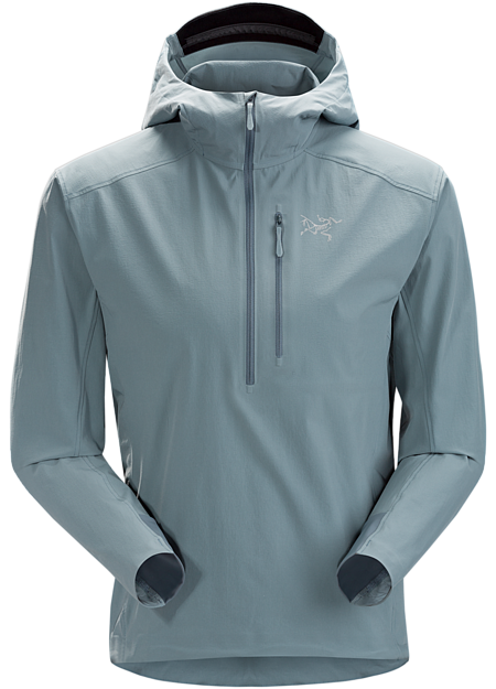 Superlight and breathable softshell pullover with durablility for the harsh alpine environment. SL: Superlight.