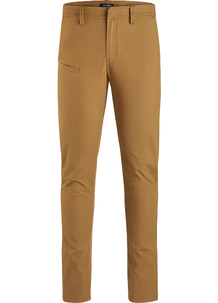 Fall-weight chino with a trim fit and comfortable cotton-blend fabric.