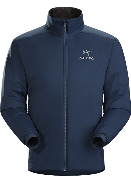 Warm, synthetic insulation jacket performs as a standalone or midlayer for a range of mountain activities. Atom Series: Synthetic insulated midlayers. | AR: All Round.
