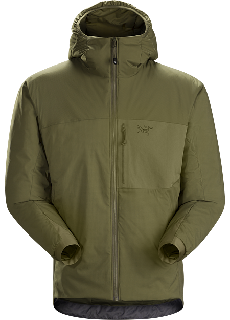 A hooded  jacket that is worn in either a stand-alone manner or in conjunction with a wet weather protective jacket.