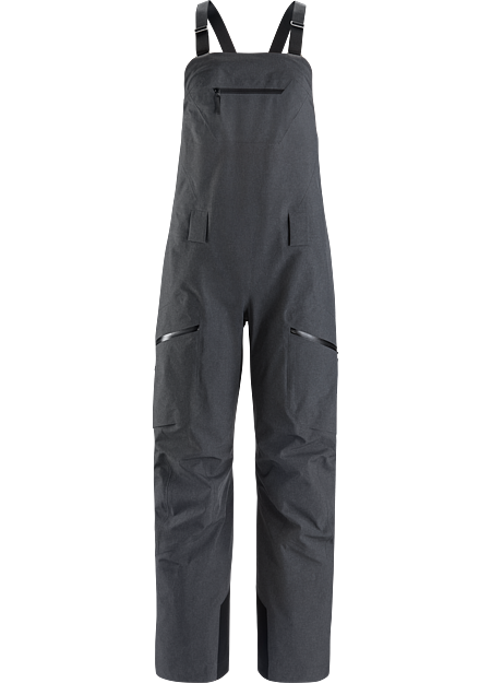 Women's ski and snowboard bib with GORE-TEX protection in a unique aesthetic.