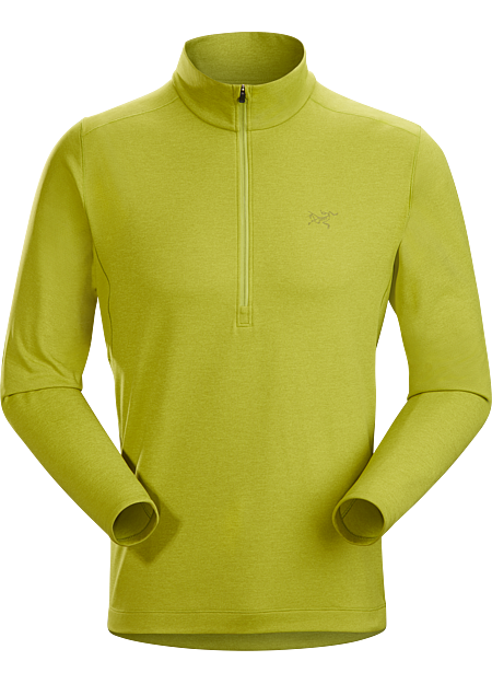 Motus AR Zip Neck LS Men's Glade Heather