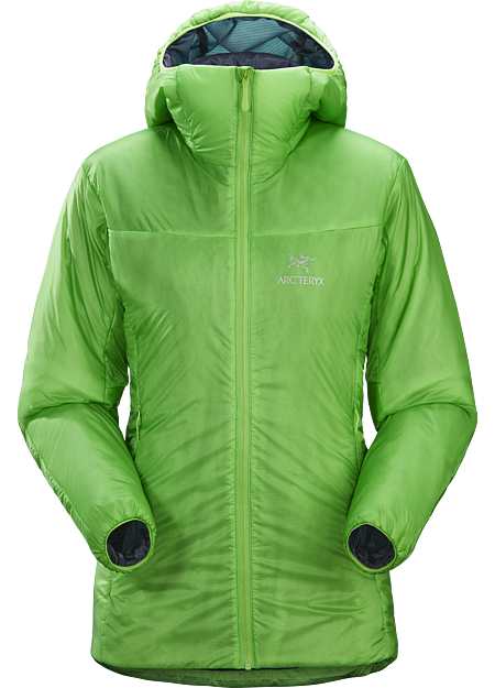 Windproof, light, and packable Coreloft™ insulated hoody for climbing and other alpine pursuits. | FL: Fast and Light.