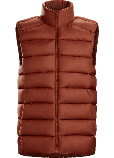 Warm, packable down vest for cold, dry days in the city.