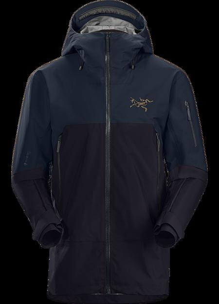 Rush Jacket ReBird Men's Black/Kingfisher