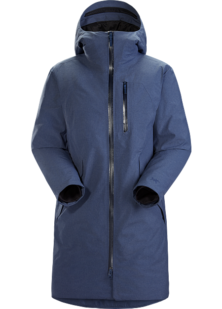 Our warmest waterproof synthetically insulated parka with a unique heathered fabric and laser cut venting for bold, comfortable protection.