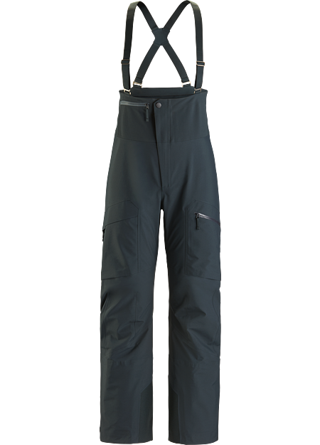 Backcountry bib made from quiet and comfortable GORE-TEX with GORE C-KNIT™ backer technology. LT: Lightweight.