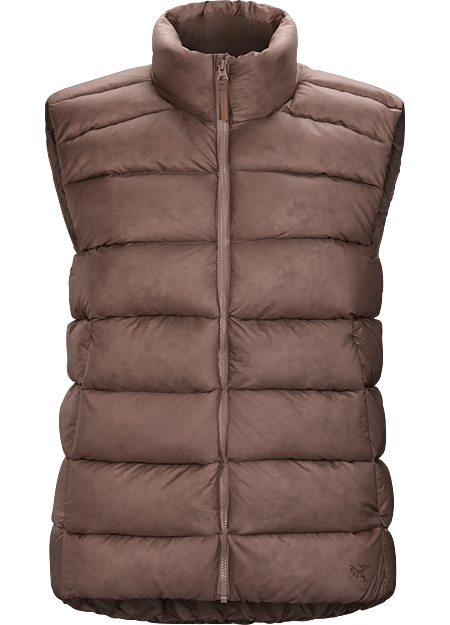 Warm, easily packable down vest for cold, dry days in the city.