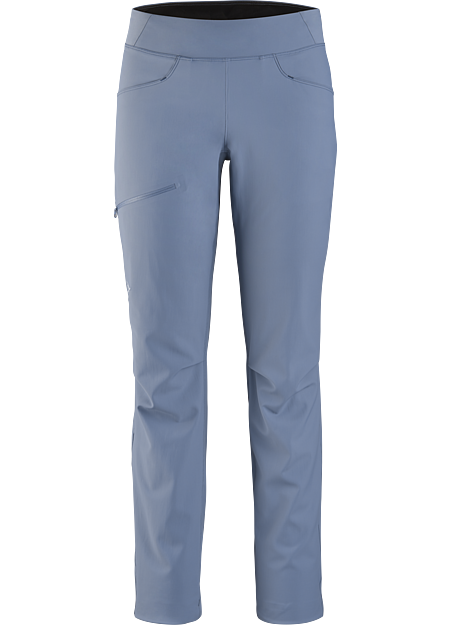 Superlight, trim fit, softshell pant for multi-pitch rock climbing. SL: Superlight.