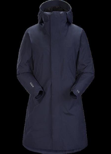 NEW ARCTERYX SOLANO COAT WOMEN GORETEX LINED SOFTSHELL BLACK THIGH LENGTH 23063