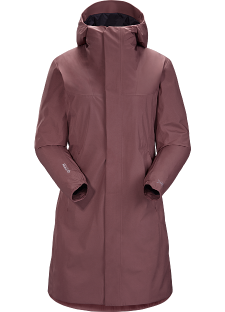 Windproof, water repellant GORE-TEX INFINIUM™ coat with refined urban style.