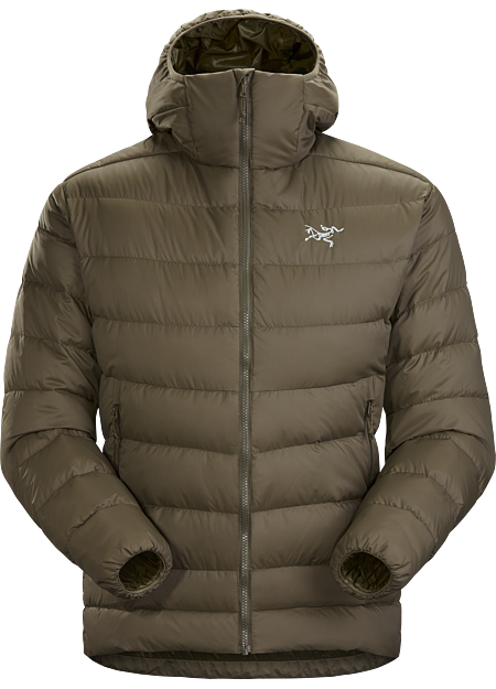 Generalist down hoody made from durable face fabrics and 750 fill grey goose down. Functions as a warm midlayer or standalone piece for cool, dry conditions. Down Series: Down insulated garments | AR: All Round.