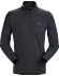 Motus AR Zip Neck LS Men's Black Heather