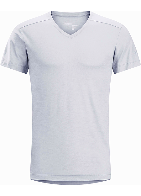 A2B V-Neck Shirt SS Men's Delos Grey