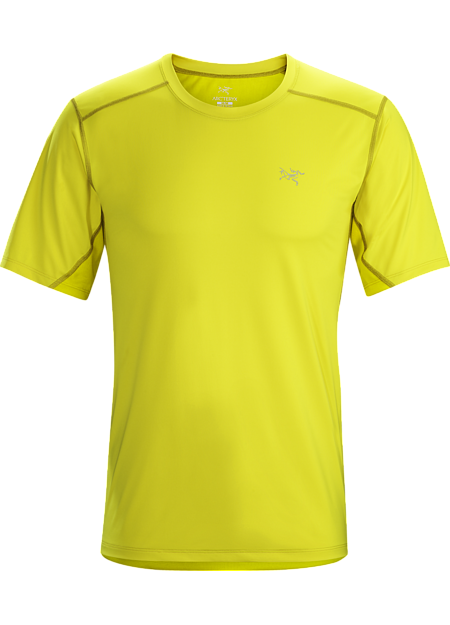 Lightweight, technical short sleeve men's shirt combines highly air permeable mesh across the back and shoulders and a smooth, comfortable moisture wicking fabric on the body.