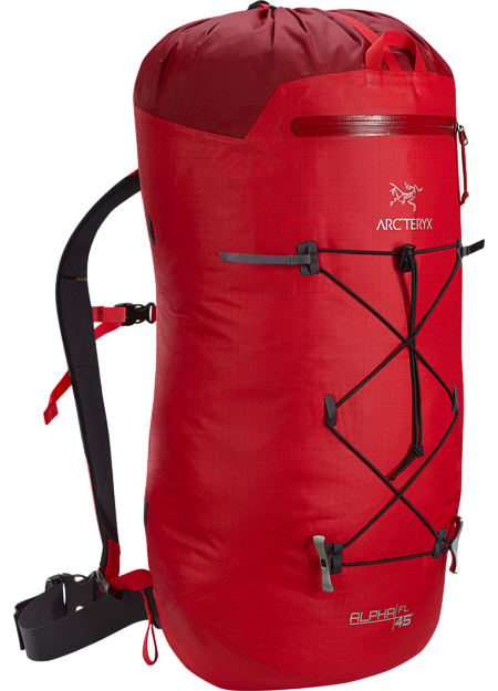 Ultralight, durable, highly weather resistant climbing pack designed for fast and light travel on alpine, ice, rock and ski alpinism routes. Alpha Series: Climbing and alpine focused systems | FL: Fast and Light.