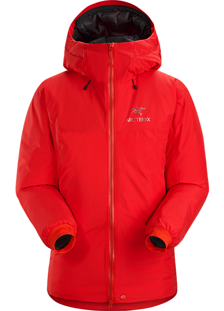 Insulated Arc'teryx GORE-TEX® hardshell for the harshest alpine conditions.