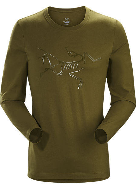 Long-sleeve T-shirt with the Arc'teryx logo, made with organically grown cotton.