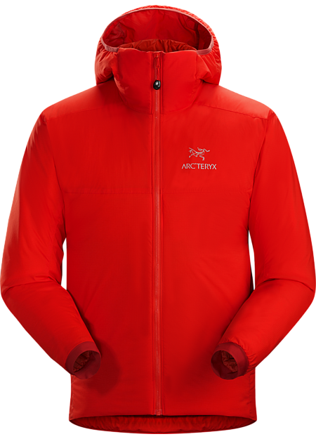 This versatile Coreloft™ insulated hoody functions as an outer layer in cold, dry conditions or as a mid layer in cold, wet conditions. Atom Series: Synthetic insulated mid layers | AR: All-Round.