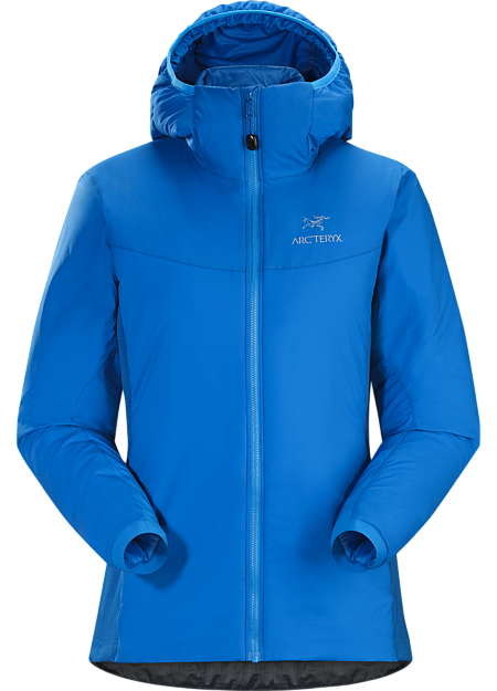 Lightweight, breathable, insulated hoody; Ideal as a stand-alone piece in fair weather, or as a layering piece in cold conditions. Atom Series: Synthetic insulated mid layers | LT: Lightweight.