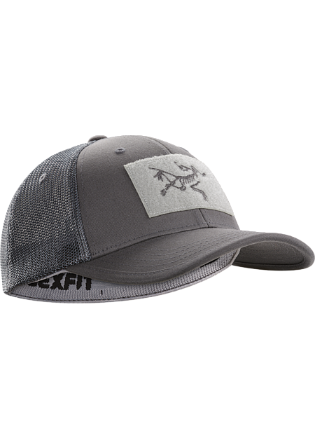 Mesh-backed cotton ball cap with the Arc'teryx logo.