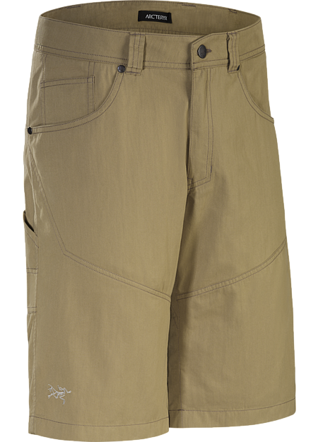 Versatile, durable cotton/nylon canvas work short for cragging and casual wear.