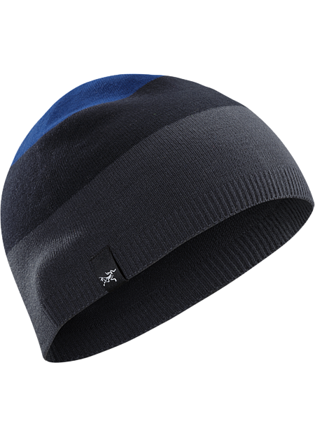 Lightweight, form fitting striped acrylic beanie with stretch.