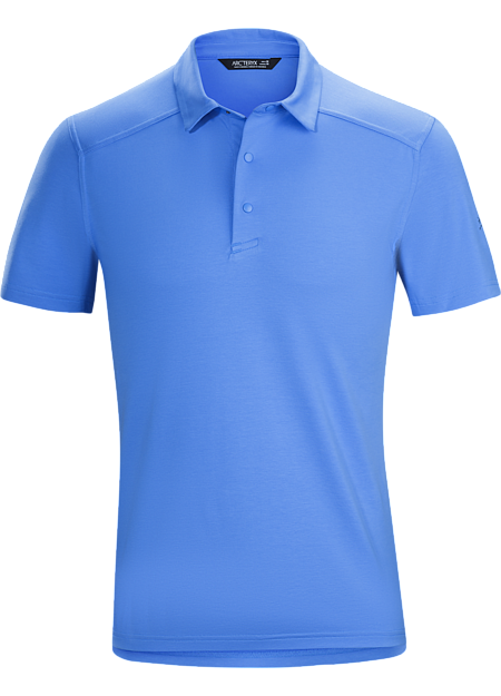City casual polo in a technical fabric that combines natural fibre comfort with quick drying performance.