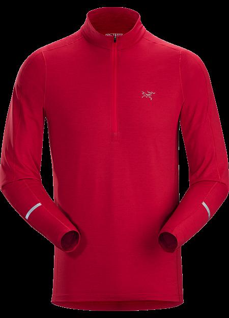 Cormac Zip Neck Shirt LS Men's Red Beach