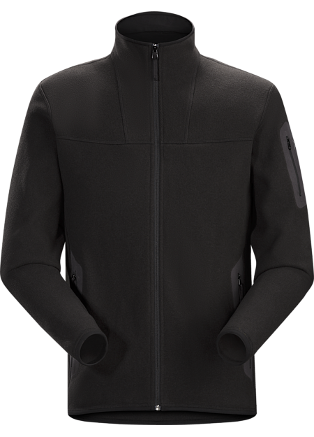 Clean, casual lines and technical Alpenex™ fleece performance combine in a fleece jacket with wool sweater styling.