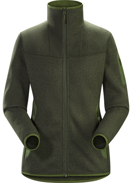 Clean, casual lines and technical Alpenex™ fleece performance combine in a fleece jacket with wool sweater styling