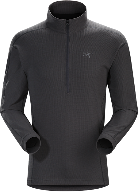Compact half zip micro fleece pullover that performs as a cold weather base layer and shoulder season midlayer. Delta Series: Mid layer fleece | LT: Lightweight.
