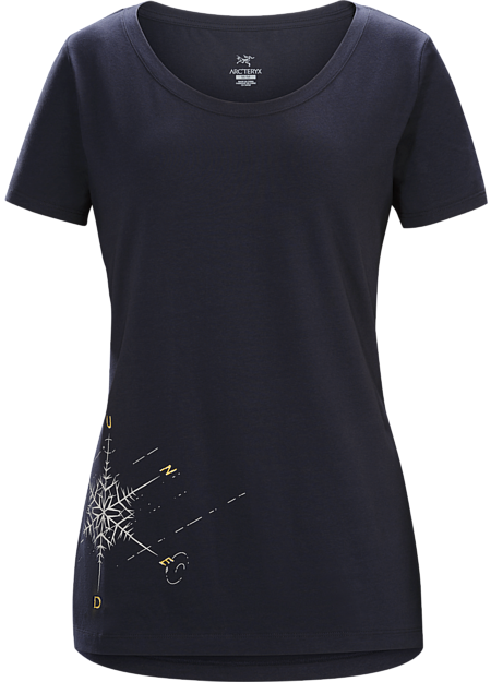 Dendrite T-Shirt Women's Black Sapphire