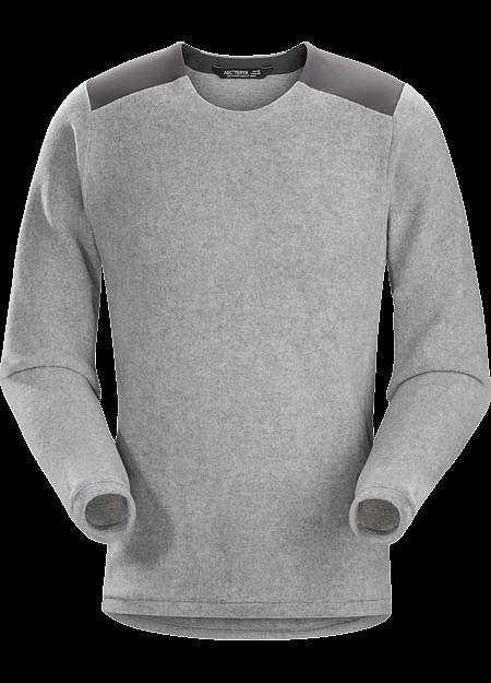 Donavan Crew Neck Sweater Men's Light Grey Heather