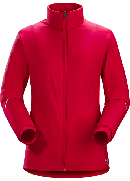 Performance thermal regulation in a light, highly breathable wind and weather resistant Polartec® Alpha® insulated jacket designed for high output activities in cold conditions.