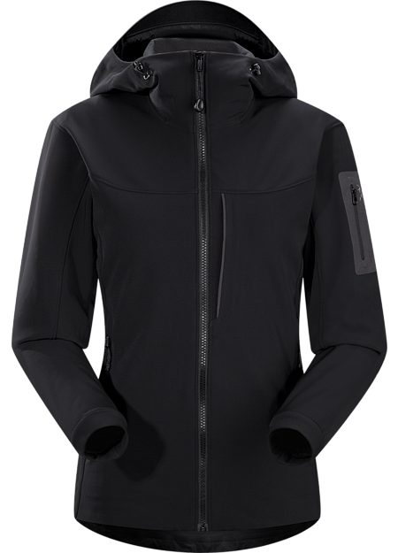 Breathable, wind-resistant, lightly insulated hooded jacket constructed with Fortius 2.0 textile for increased comfort and mobility. Gamma Series: Softshell outerwear with stretch | MX: Mixed Weather.