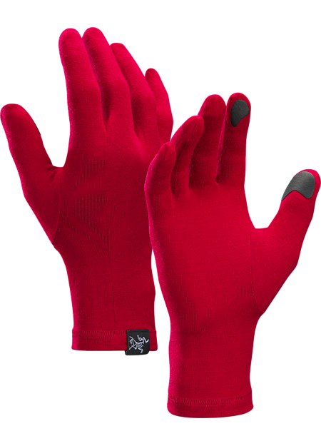Lightweight, touch screen compatible merino wool glove designed for use as a standalone or liner.