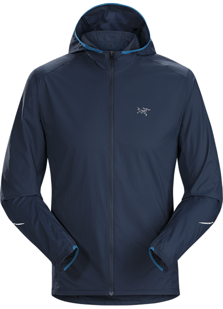 Stowable, minimalist, wind and water resistant trail running hoody. Incendo  Hoody